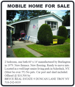 Mobile Home in Schodack, NY
